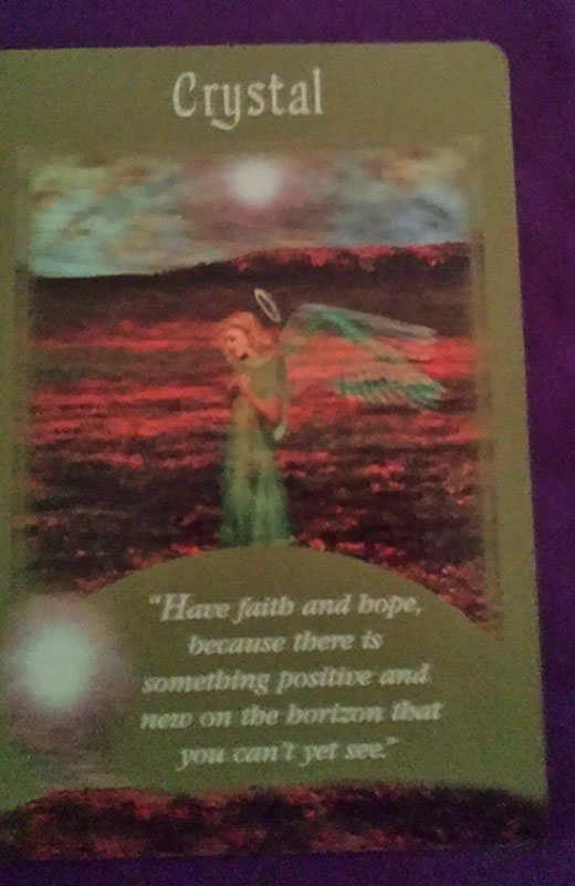 angel card reading crystal